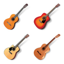 Desktop Icons Set: Acoustic Guitars by 
