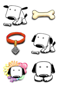 Desktop Icons Set: Ai Dog by