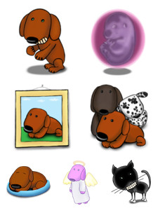 Desktop Icons Set: A Dog's Life by