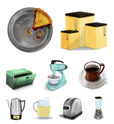Desktop Icons Set: Vintage Kitchen by 
