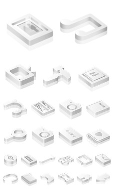 Desktop Icons Set: White Icons by
