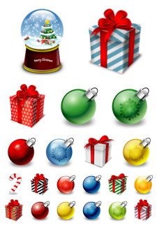 Desktop Icons Set: Mache's Xmas by