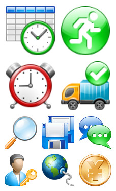 Desktop Icons Set: Professional Toolbar Icons by 