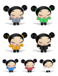 Desktop Icons Set: Pucca by
