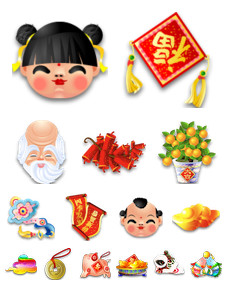 Desktop Icons Set: Spring Festival by 