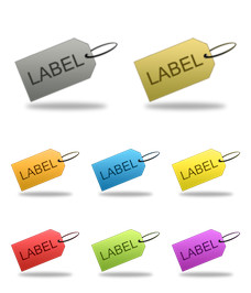 Desktop Icons Set: Labels by 