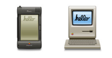 Desktop Icons Set: Vintage Apple by 
