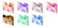 Mosaic Folders Microsoft Windows icons