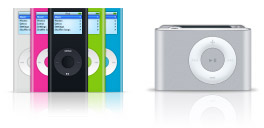 The New iPod Family Microsoft Windows icons