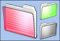 Desktop Icons Set iMac Folders 2.0 by Carlos Reyes