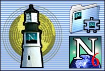 Desktop Icons Set Netscape X by Carlos Reyes