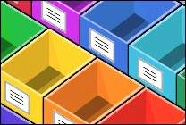 Desktop Icons Set Rainbow Boxes (empty) by David Gavin
