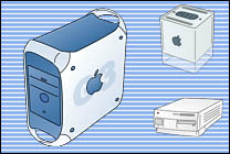 Desktop Icons Set Bluecons - PowerMac by Eric Schneider