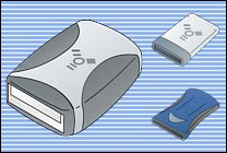 Desktop Icons Set Bluecons - Firewire/USB by Eric Schneider
