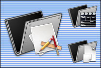 Desktop Icons Set Carlito's Ti Folders by Carlos Reyes