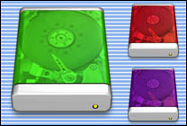 Desktop Icons Set iMac iDrives by Carlos Reyes