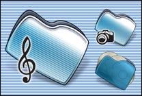 Desktop Icons Set MM Folders by Mikkel Madsen