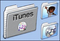 Desktop Icons Set MP3 Folders by Ben Harrison