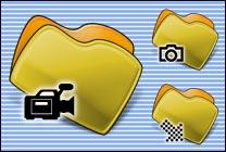 Desktop Icons Set MM Yellow by Mikkel Madsen