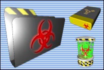 Desktop Icons Set Biohazard by Jamie Hamel-Smith