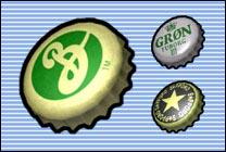 Desktop Icons Set Beer Caps by Mr. Oop!