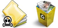 Desktop Icons Set MM Yellow II by Mikkel Madsen
