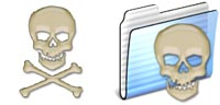 Desktop Icons Set Surfers Skulls by jail