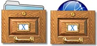 Desktop Icons Set X-File Drawers by Lar Matre
