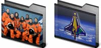 Desktop Icons Set STS-107 Memorial by Erik Day