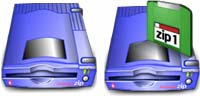 Desktop Icons Set Zip Drives by Ned