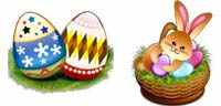 Desktop Icons Set Easter in Spring by Wati Larke