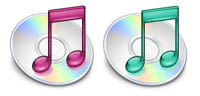 Desktop Icons Set iTunes Variations by James Gowan