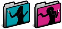 Desktop Icons Set iPod Ad Folders by Ian Aberle