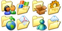 Desktop Icons Set Win XP Extended Folders by Andrew J. Beard