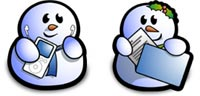 Desktop Icons Set Snowmen by Neil Dixon