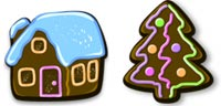 Desktop Icons Set Xmas Gingerbread by Julia Nikolaeva