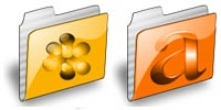 Desktop Icons Set Abstrack Folders by Abstrack Design
