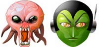 Desktop Icons Set Alien Mind by Rhandros Dembicki