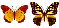 Desktop Icons Set Butterfly Beauties by Wati Larke