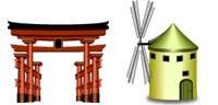 Desktop Icons Set World Architecture by Wati Larke
