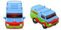 Desktop Icons Set Mystery Machine by Rhandros Dembicki