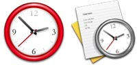 Desktop Icons Set Time by Wolfgang Bartelme