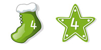 Desktop Icons Set Happy Green Xmas by core4