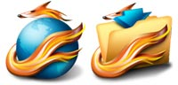 Desktop Icons Set Firefox 2005 by Jairo Boudewyn