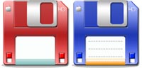 Desktop Icons Set Candy Floppy by isb