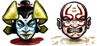 Desktop Icons Set Kabuki by Joseph Briggs