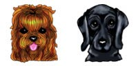 Desktop Icons Set Woofer Poofens by Melissa Scroggins