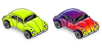 Desktop Icons Set VW Beetle by ZAPCULT