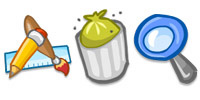 Desktop Icons Set Toon System by FastIcon.com