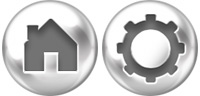 Desktop Icons Set White Steel Buttons by Tab